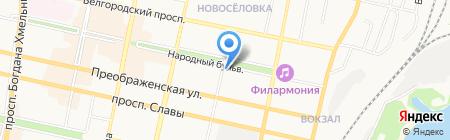 Центр социальных выплат г. Белгорода на карте Белгорода