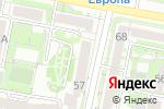 Схема проезда до компании Департамент строительства и архитектуры в Белгороде