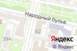 Схема проезда до компании Управление социальной защиты населения в Белгороде