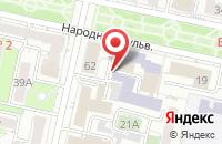 Схема проезда до компании Юридическая фирма БелЮриКон в Белгороде