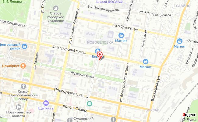 Карта расположения пункта доставки Lamoda/Pick-up в городе Белгород