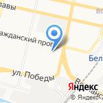 Афелия на карте Белгорода