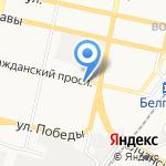 Пивовариус на карте Белгорода