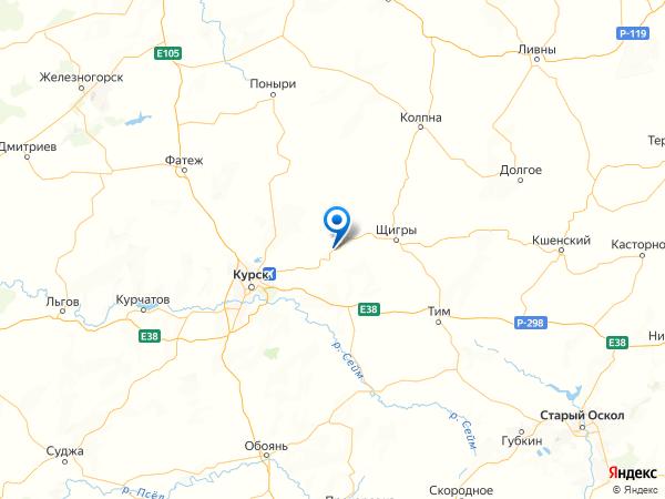 деревня Кресты на карте