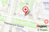Схема проезда до компании Центр Безопасности Сервис в Белгороде