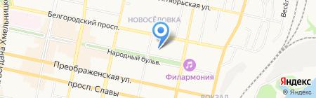 Банкомат БИНБАНК кредитные карты на карте Белгорода