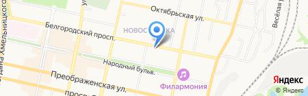 Коньячок Табачок на карте Белгорода