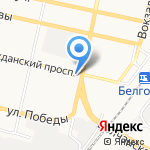 Бриз на карте Белгорода