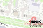 Схема проезда до компании ГАЛЕРЕЯ ОКОН+ в Белгороде