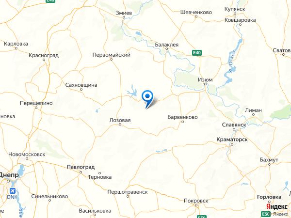 село Лиман на карте