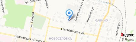 Белводоканал на карте Белгорода