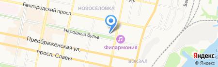 Дионис на карте Белгорода