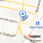 Аргопак на карте Белгорода