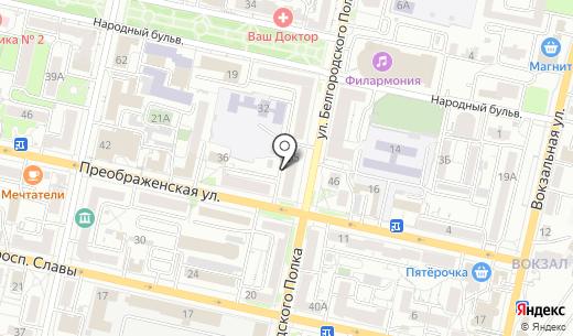 Южная оконная компания. Схема проезда в Белгороде