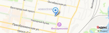 Экватор на карте Белгорода