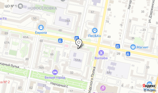 Метро. Схема проезда в Белгороде