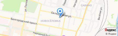 Национальный банк Траст на карте Белгорода