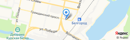 Фореш на карте Белгорода