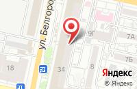 Схема проезда до компании 1000 Мелочей Плюс в Белгороде