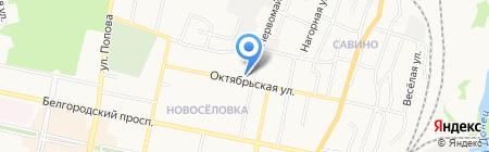 Долина на карте Белгорода