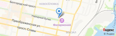 Матрасы на карте Белгорода