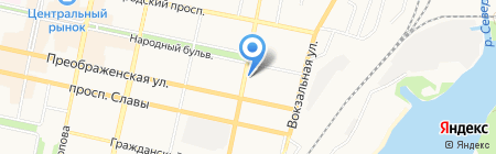 Архимед на карте Белгорода