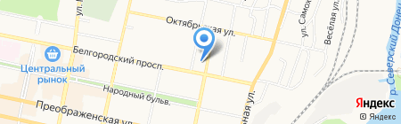 Искра на карте Белгорода