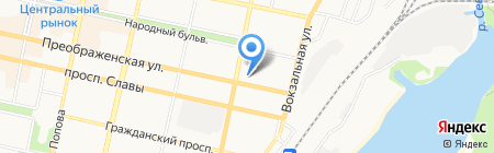 Центральная на карте Белгорода