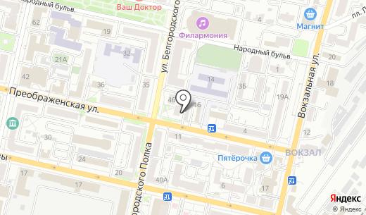 Центральная. Схема проезда в Белгороде