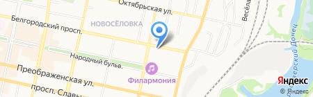 Маркани на карте Белгорода