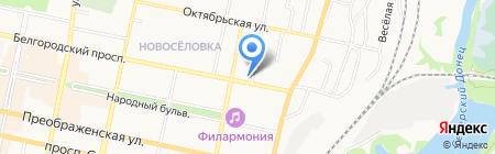 Белое озеро на карте Белгорода