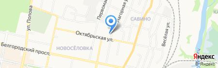Интероптторг на карте Белгорода