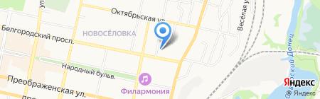 Софина на карте Белгорода