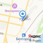 Управление Пенсионного фонда РФ в г. Белгороде на карте Белгорода