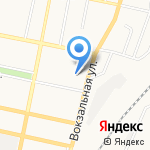Паровозик на карте Белгорода