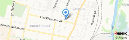 Бочонок на карте Белгорода
