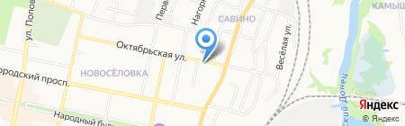 Лавка на карте Белгорода