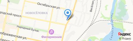 Вирострой на карте Белгорода