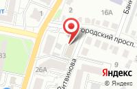 Схема проезда до компании Благосостояние в Белгороде