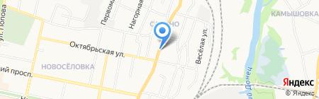 Магазин продуктов на ул. Калинина на карте Белгорода