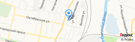 Средняя общеобразовательная школа №16 на карте Белгорода