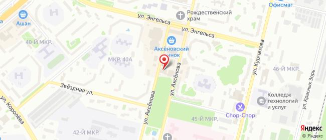 Карта расположения пункта доставки Обнинск Аксенова в городе Обнинск