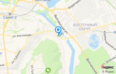 Местоположение на карте пункта техосмотра по адресу г Белгород, ул Донецкая, д 149А