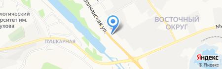 Автошок на карте Белгорода