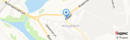 Автосеть на карте Белгорода
