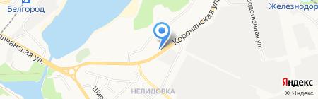 Шаверма на Корочанской на карте Белгорода