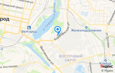 Местоположение на карте пункта техосмотра по адресу г Белгород, ул Корочанская, д 71А