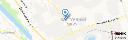 Специализированная стоянка на карте Белгорода