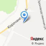 Грузовик на карте Белгорода