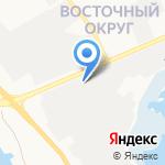 Белгородский абразивный завод на карте Белгорода
